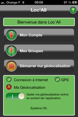 Loc All - Application Iphone / Ipad