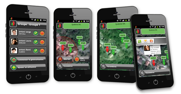 LocAll - Application Android smartphone