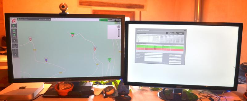 REZO+ PC Inline avec deux écrans