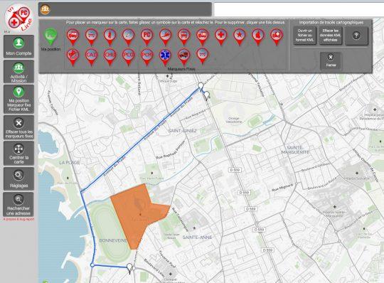 Tracés cartographiques dans REZO+ PC Inline